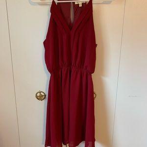 Monteau Maroon Dress